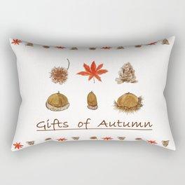 Gift of autumn watercolor painting Rectangular Pillow