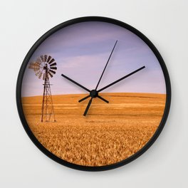 Ripening Cereal Rural Landscape in Australia Wall Clock