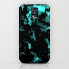 Teal and Black Galaxy S5 Slim Case