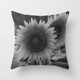 girasol (blanco y negro) Throw Pillow