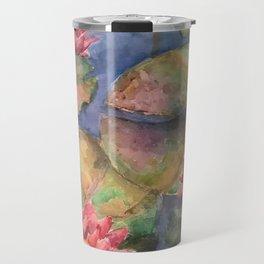 LilyPads and Lotus Flowers Travel Mug