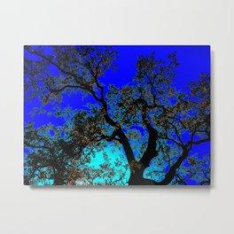 Fiery Blue Black Oak Metal Print