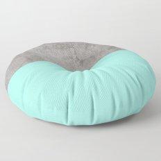 Sea on Concrete Floor Pillow