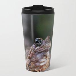Portrait of a frog. Travel Mug