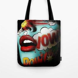 Comic Face Tote Bag