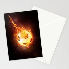 Fire Football Stationery Cards