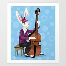 The Jazz Bunny Art Print