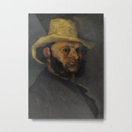 Gustave Boyer in a Straw Hat Metal Print