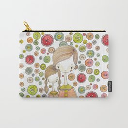 Motherhood Button Collection Carry-All Pouch