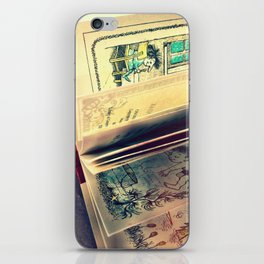 Sunshine on page spines iPhone Skin
