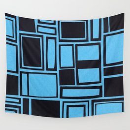 Windows & Frames - Blue Wall Tapestry
