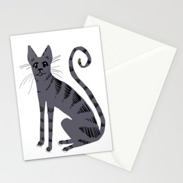 Grey Tabby Cat Stationery Cards