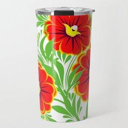 Abstract flowers branch Travel Mug