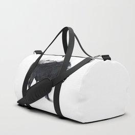 Bison Mountain Black and white art Duffle Bag