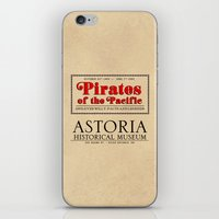 goonies iPhone & iPod Skins featuring THE GOONIES - Pirates of the Pacific exhibition by La Cantina