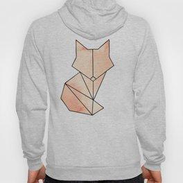 Geometric Fox - Orange Hoody