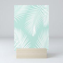 Mint Tropical Pattern Mini Art Print