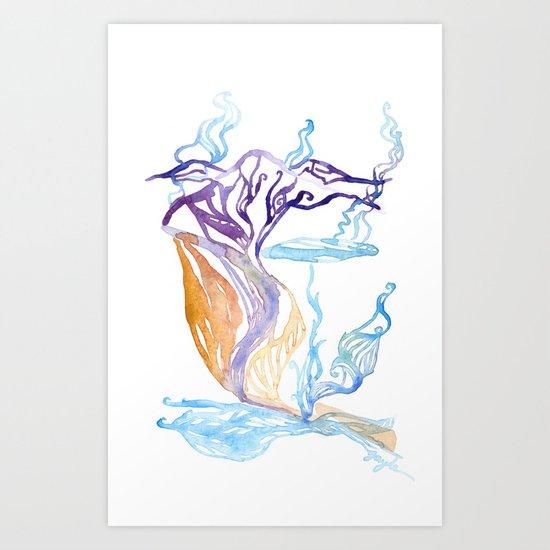 Mývatn Art Print
