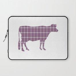 Cow: Purple Plaid Laptop Sleeve