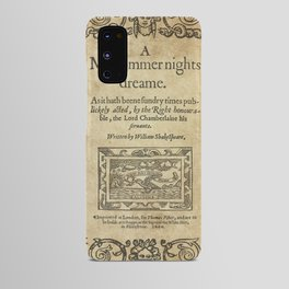 Shakespeare. A midsummer night's dream, 1600 Android Case
