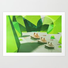 Row Your Boat Art Print