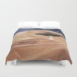 ALIEN DESERT ABDUCTION Duvet Cover