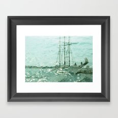 so we beat on, boats against the current... Framed Art Print