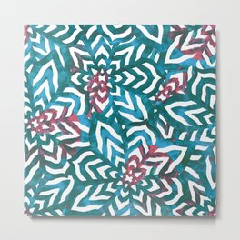 I don't need to improve - Turquoise and pink Metal Print