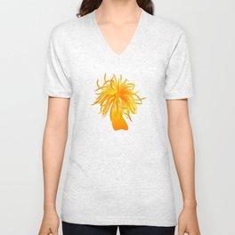 sea anemone Unisex V-Neck