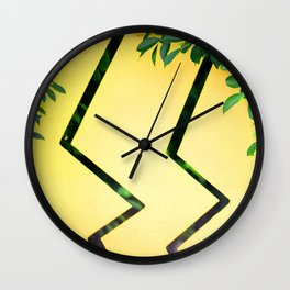 Lemon And Leaves Avant-Garde Contemporary Design Wall Clock