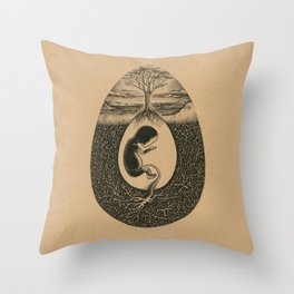 Natural Birth Throw Pillow