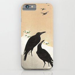 Crows from Koson iPhone Case