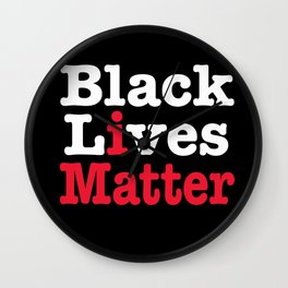 BLACK LIVES MATTER (inverse version) Wall Clock