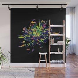 Rainbow Floral Wall Mural