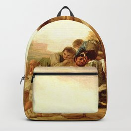"""Francisco Goya """"The Threshing Floor"""" Backpack"""
