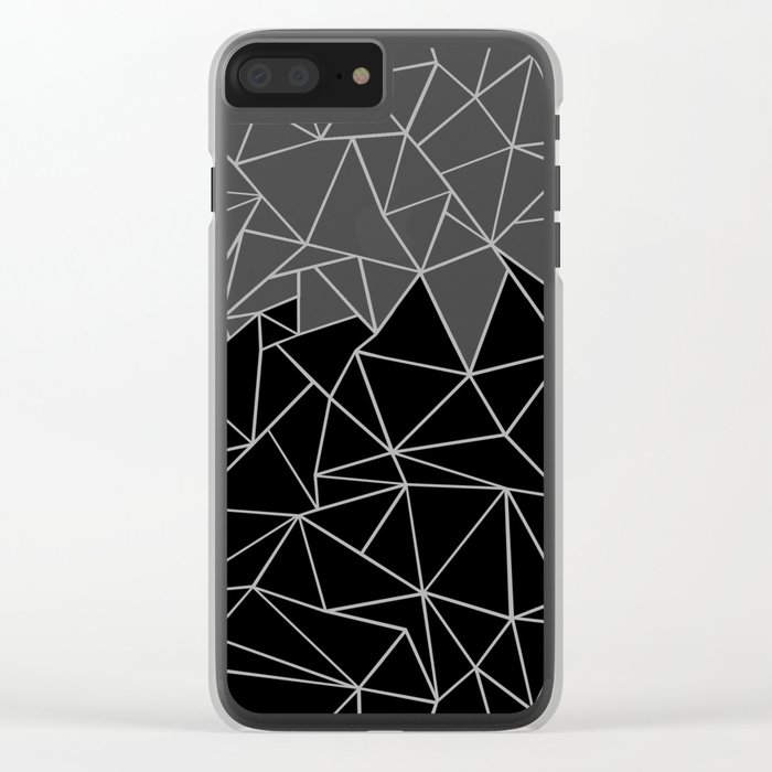 Angry Ab Clear iPhone Case
