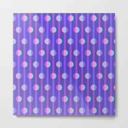 Mod Stripe Violet Metal Print