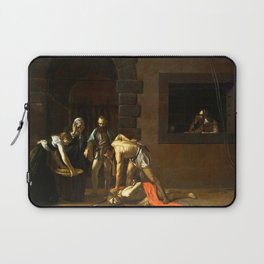 The Beheading of St John the Baptist by Caravaggio (1608) Laptop Sleeve