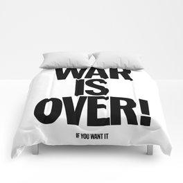 War Is Over - If You Want It -  John Lenon & Yoko Ono Poster Comforters