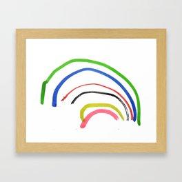 Rainbow sketch Framed Art Print