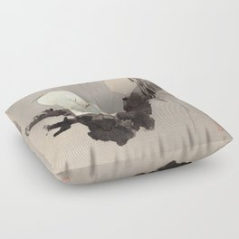 Egrets in a Tree at Night Floor Pillow