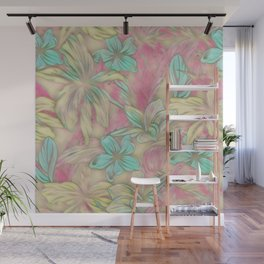 Floral Dreams 619-1A pastel Wall Mural