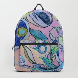 Floral and Circles Backpack