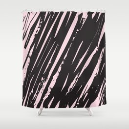 I spilled my chocolate! /geometric series Shower Curtain