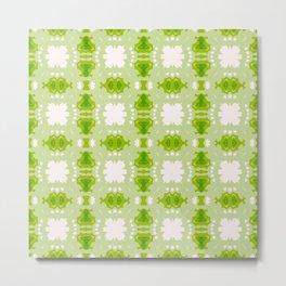 Green Pattern Design Metal Print