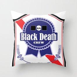 Black Death Ribbon (Color) Throw Pillow