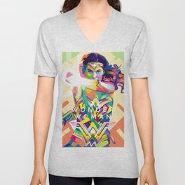 wonderwoman Pop art Unisex V-Neck