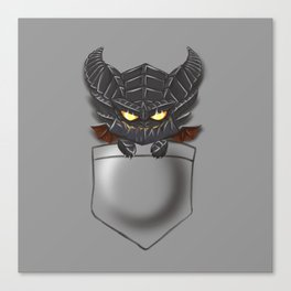 Dragon Pocket Tee Canvas Print