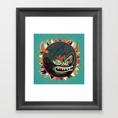 Gorilla - blue Framed Art Print