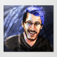 markiplier Canvas Prints featuring Messing around with Markiplier by JazzySatinDoll